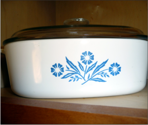 Corningware Cornflower Blue casserole