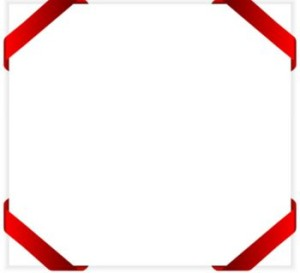 Red ribbon border from Dreamstime
