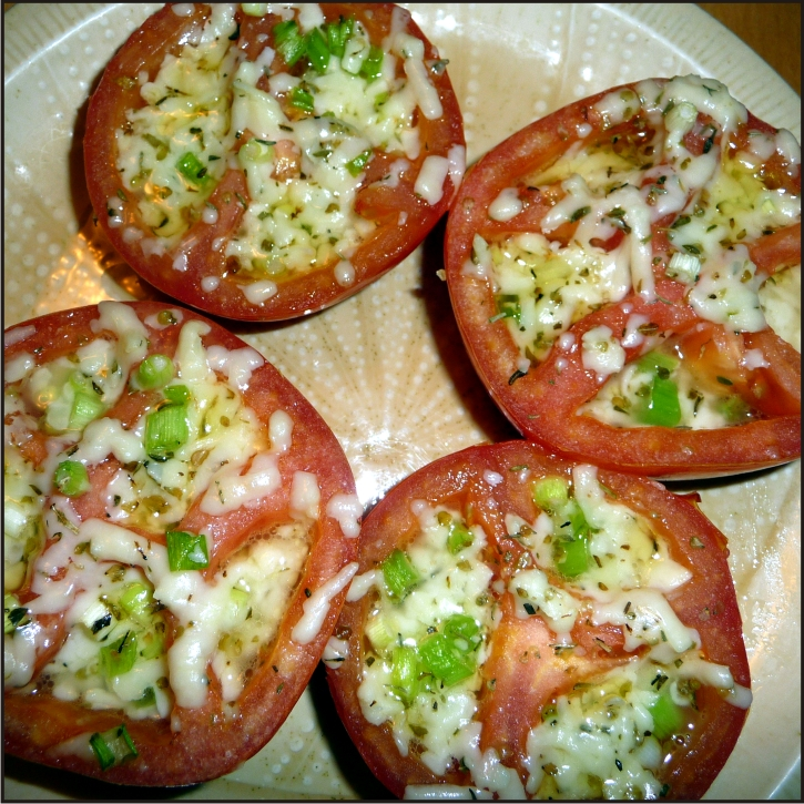 Baked herb and cheese stuffed tomatoes